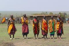Masai Women Song Stock Photos