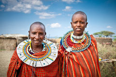 Masai women with traditional  ornaments. Tanzania. Royalty Free Stock Photography