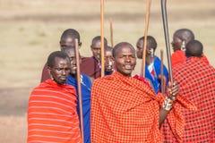 Masai zaludniają w Tanzania Obrazy Royalty Free