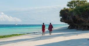 Masai on Zanzibar coast Royalty Free Stock Photos