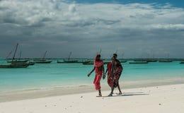 Masai on Zanzibar coast Stock Image