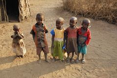 Masaikinder, Kenia Lizenzfreie Stockfotografie