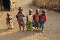 Masaikinderen, Kenia Royalty-vrije Stock Fotografie