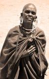 Masaikvinna Fotografering för Bildbyråer