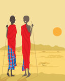 masaimän Royaltyfri Foto