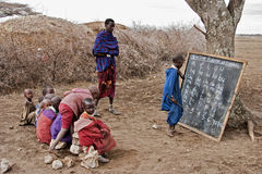 MasaiMara skola Arkivbilder