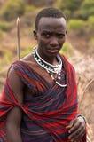 Masaimara strijder Stock Foto
