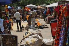 Masaimarknad i Nairobi Arkivbilder