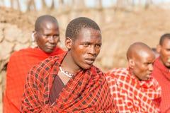 Masaimensen in Tanzania Stock Fotografie