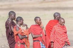 Masaimensen in Tanzania Stock Afbeeldingen