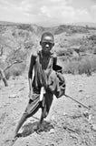 Masaipojke Arkivfoto