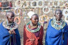 Masaivrouw in Tanzania Stock Afbeeldingen