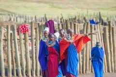 Masaivrouwen in Tanzania Royalty-vrije Stock Foto