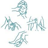 Masaje como línea sistema del procedimiento médico Fotos de archivo