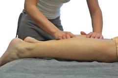 Masaje de la pierna Foto de archivo