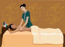 Masaje de la relajación. Foto de archivo libre de regalías