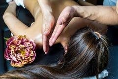 Masaje de Person Receiving Imagen de archivo libre de regalías