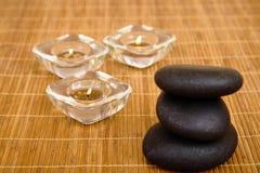 Masaje de piedra caliente imagen de archivo