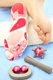 Masaje de pies Imagen de archivo libre de regalías