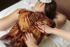Masaje del chocolate caliente Fotos de archivo