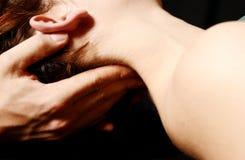Masaje del cuello Fotografía de archivo libre de regalías