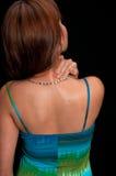 Masaje del dolor de espalda Imágenes de archivo libres de regalías