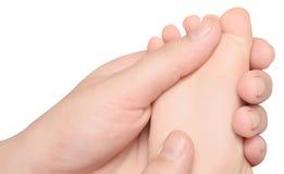 Masaje del pie del bebé Imagen de archivo libre de regalías