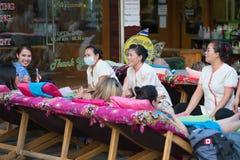 Masaje del pie, Tailandia Foto de archivo