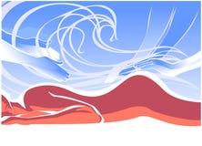 Masaje en la playa ilustración del vector