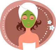 Masaje facial Foto de archivo libre de regalías