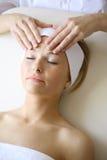 Masaje facial fotografía de archivo