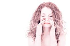 Masaje facial imagen de archivo libre de regalías