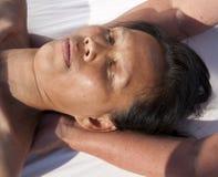 Masaje facial japonés fotografía de archivo libre de regalías