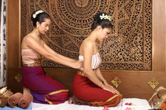 Masaje tailandés sano Foto de archivo