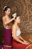 Masaje tailandés sano Imágenes de archivo libres de regalías