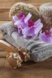 Masaje y aún-vida determinada de limpiamiento para la relajación Fotos de archivo