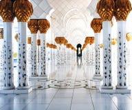 Masajid magnífico Abu Dhabi Fotos de archivo