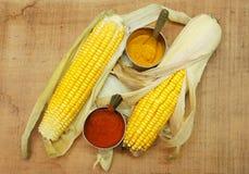 Masala amarillo orgánico del maíz Fotos de archivo
