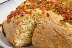 Masala Bread. A masala bread made with Tomato, Onion, Garlic Royalty Free Stock Photos