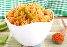 Masala Capsicum Rice Stock Image