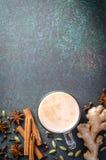 Masala chai con le spezie Fotografia Stock Libera da Diritti