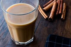 Masala Chai Tea in a big glass. Stock Images