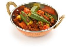 Masala de Bhindi, curry del okra Imagenes de archivo