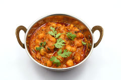 Masala de Chana, curry del garbanzo imagenes de archivo