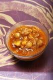 Masala de Chana, plato indio Imágenes de archivo libres de regalías
