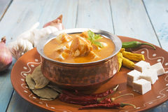 Masala de Paneer avec des ingrédients Image stock
