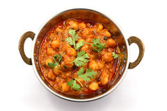 Masala di Chana, curry del cece Fotografia Stock
