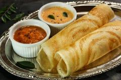 Masala Dosa with chutney, Beakfast. Masala Dosa with chutney, south Indian breakfast Stock Image