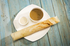 Masala Dosa and Sambaar Royalty Free Stock Image