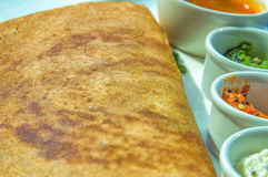 Masala Dosa. Dosa, South Indian snack Royalty Free Stock Images